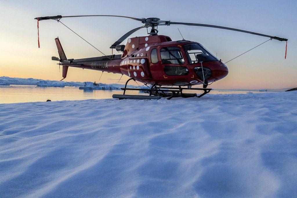Survol helicoptère Groenland