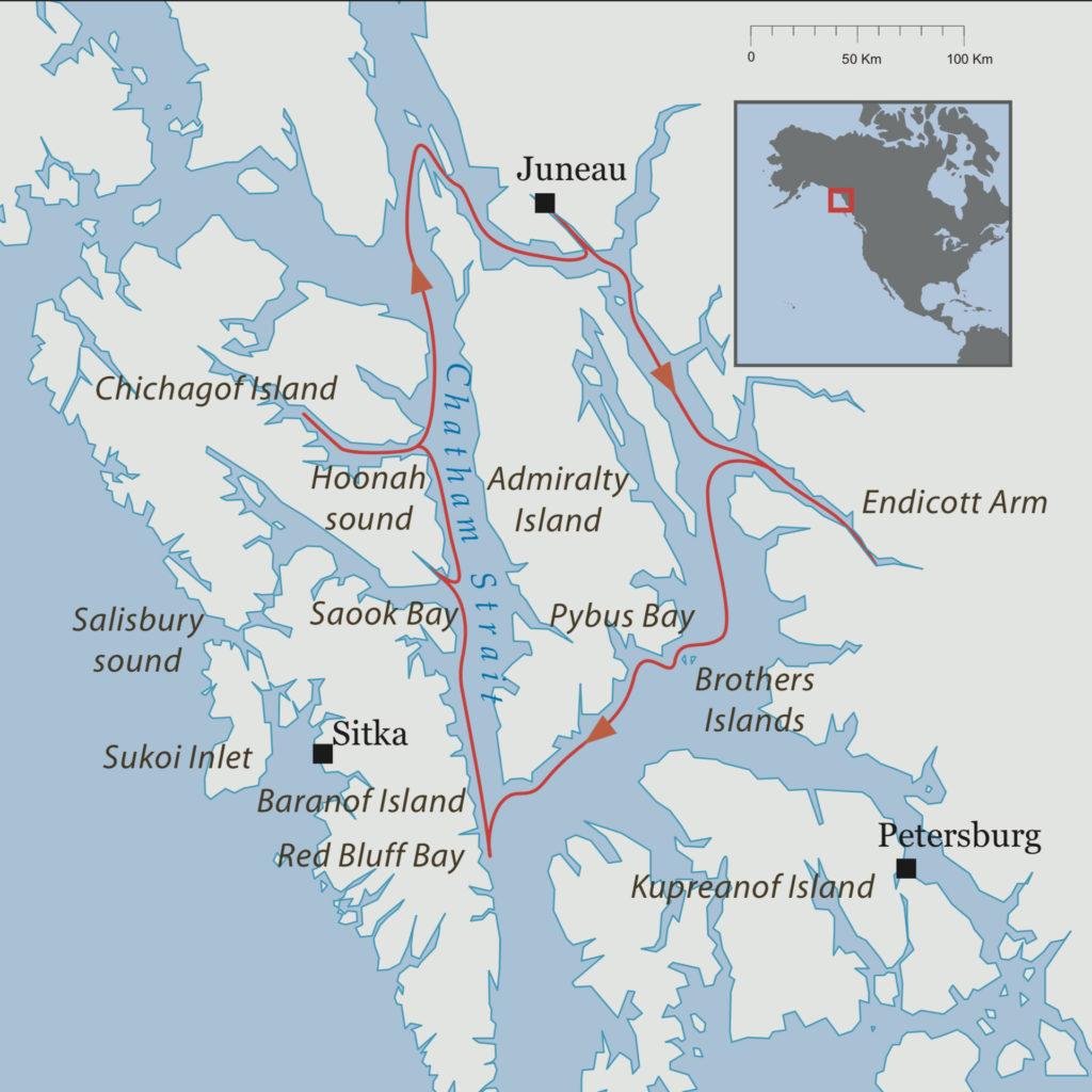 Carte croisière Alaska