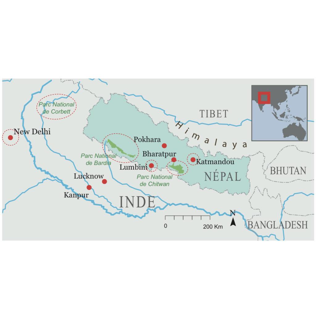 Carte voyage Nepal