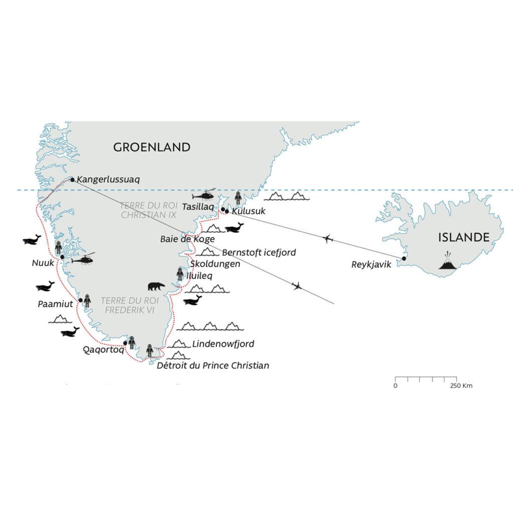 Grands Espaces - Carte croisière Groenland
