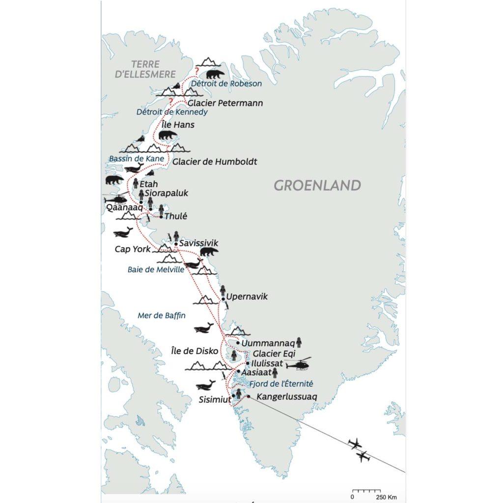 Carte Thulé - Groenland