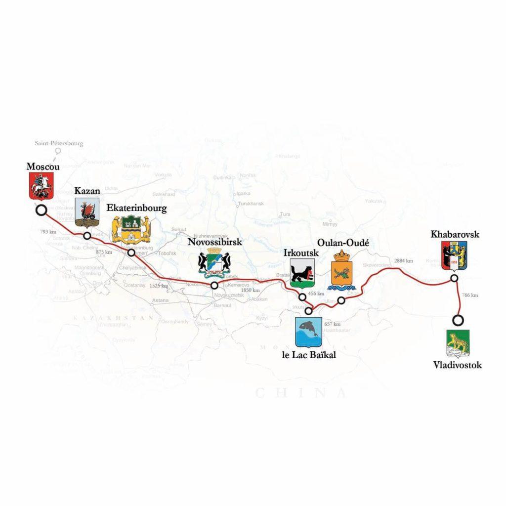 Carte voyage transsiberien Grands Espaces