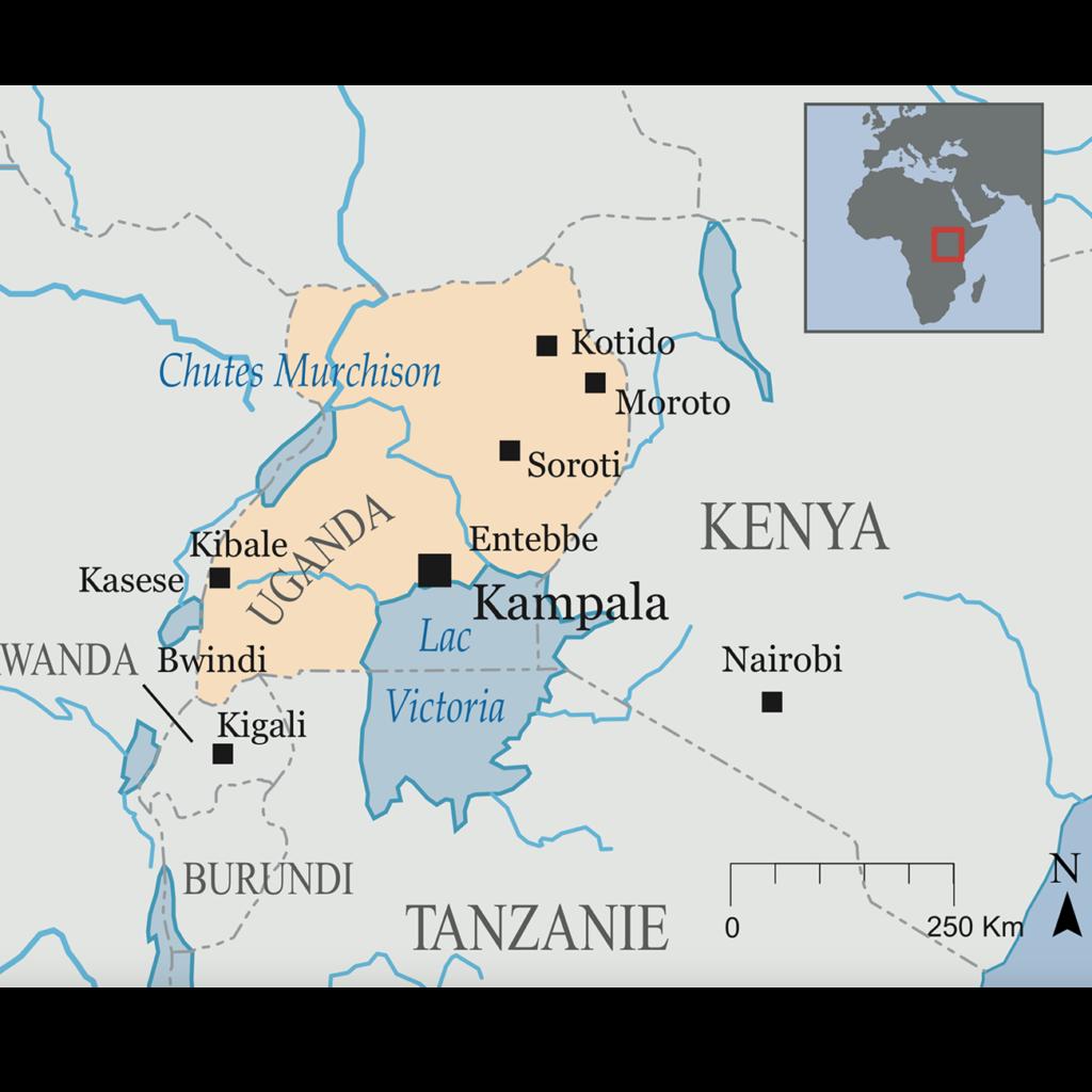 Carte Circuit Ouganda
