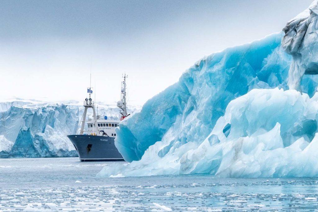 Polarfront glace glacier