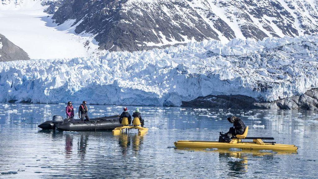 Sortie Pedalo Glacier Spitzberg