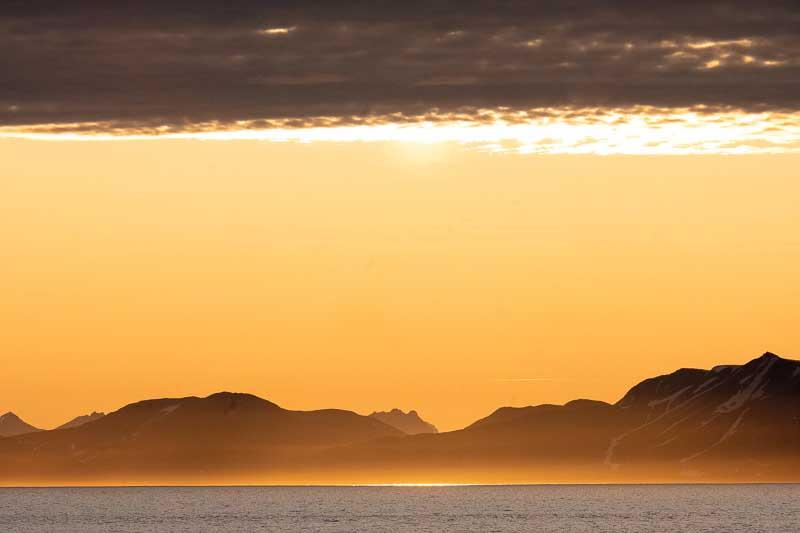 Coucher de soleil Cap Sud Spitzberg