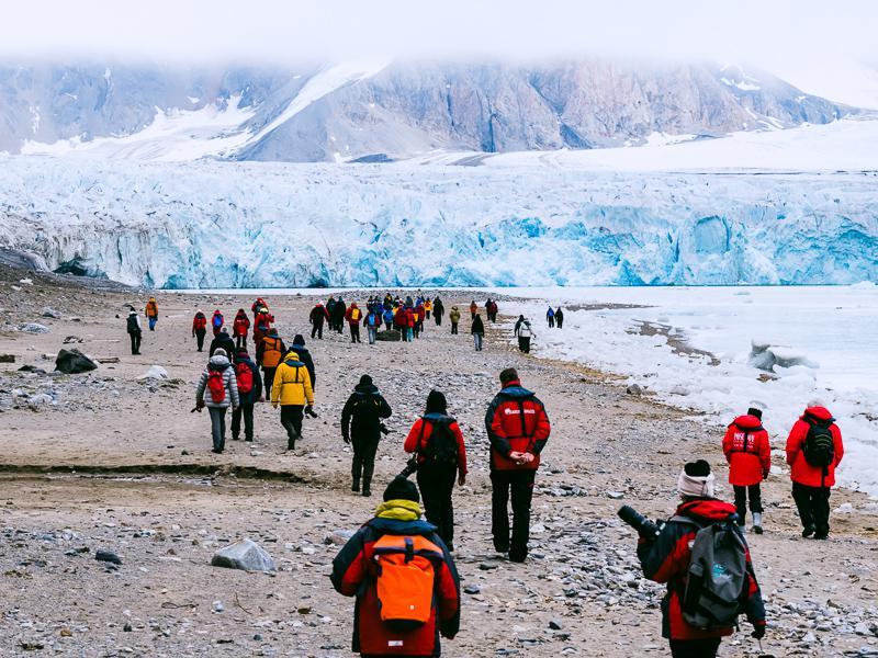 Glacier du 14 juillet Spitzberg