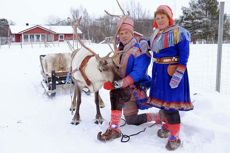Samis - éleveurs de rennes - Laponie