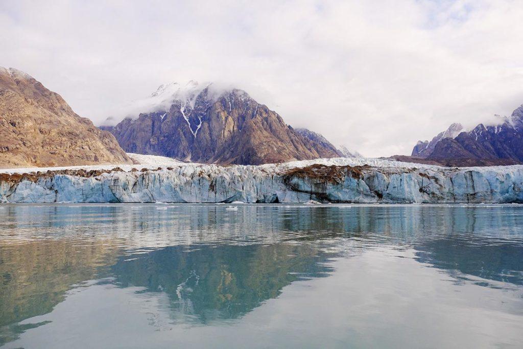 Découverte des glaciers au Groenland