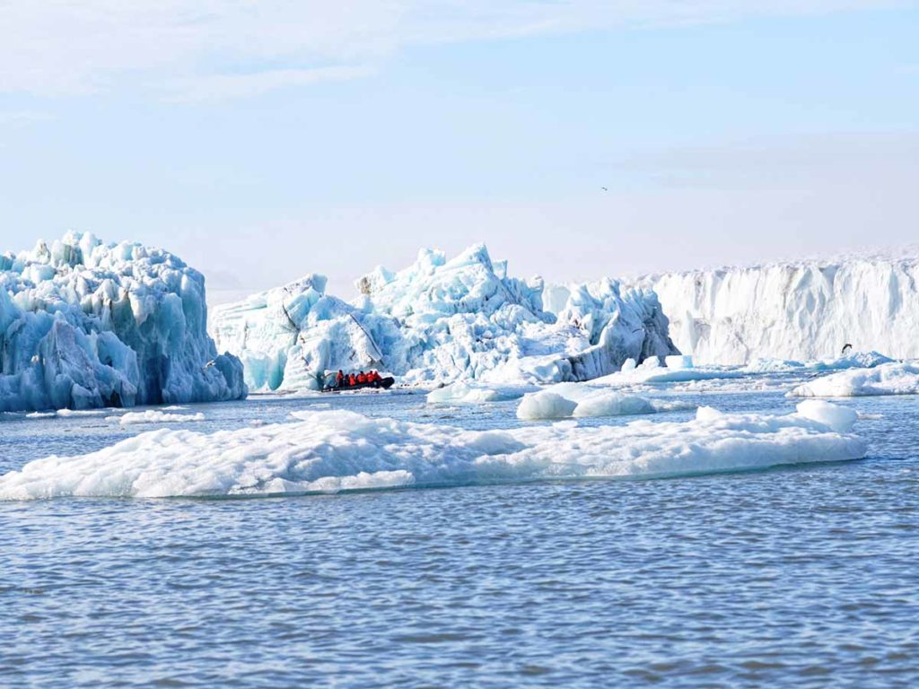 glacier au spitzberg