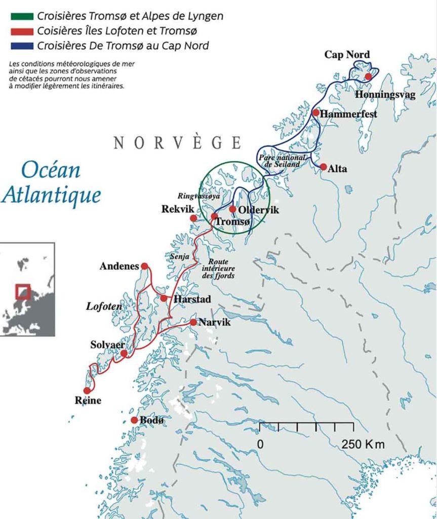 Carte - croisière Laponie