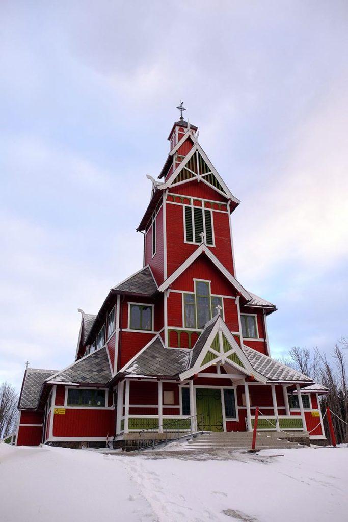 Eglise Gravladen - Croisière Laponie
