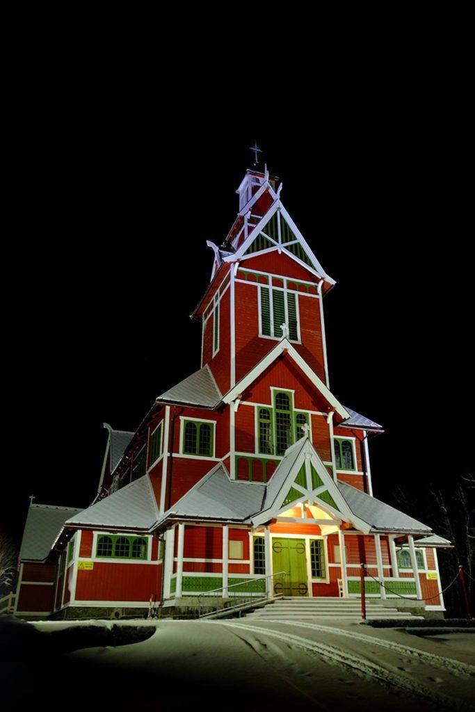 Eglise de Buknes - Laponie