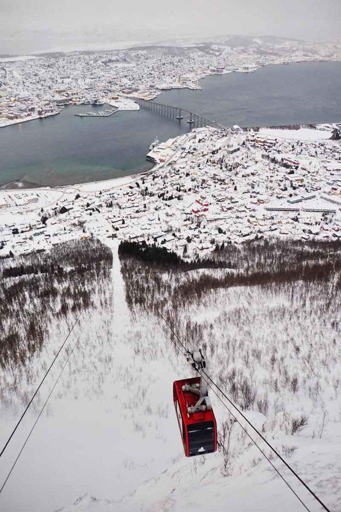 Téléphérique Tromso - Croisiere Laponie