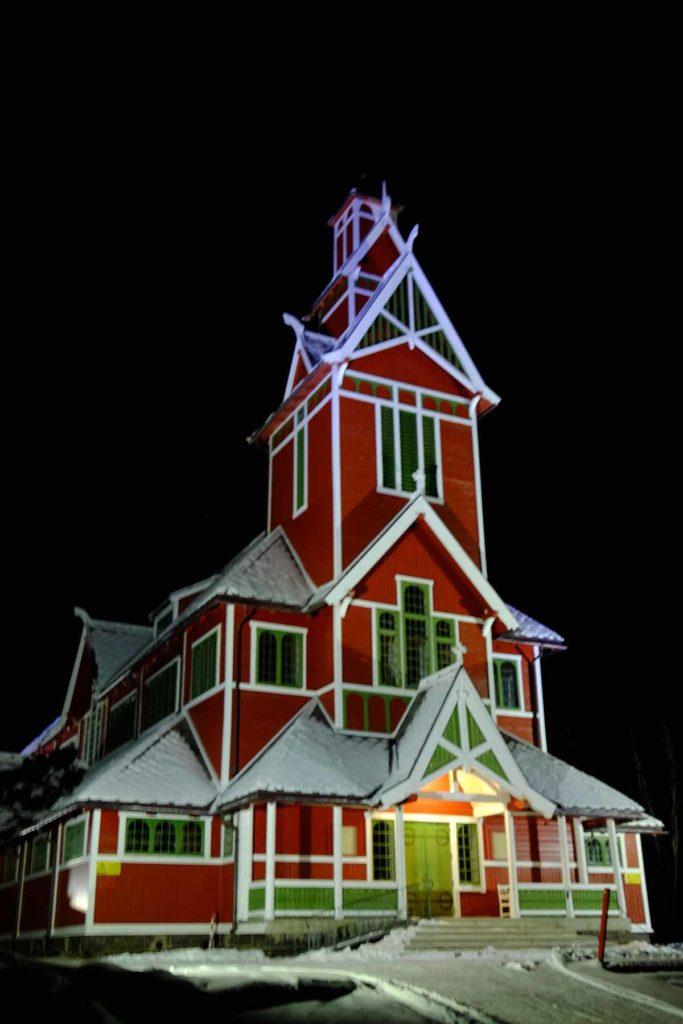 Eglise de Buknes - croisiere Laponie