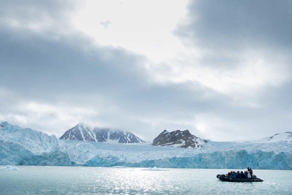 Glacier de Smeerenburg et Zodiac