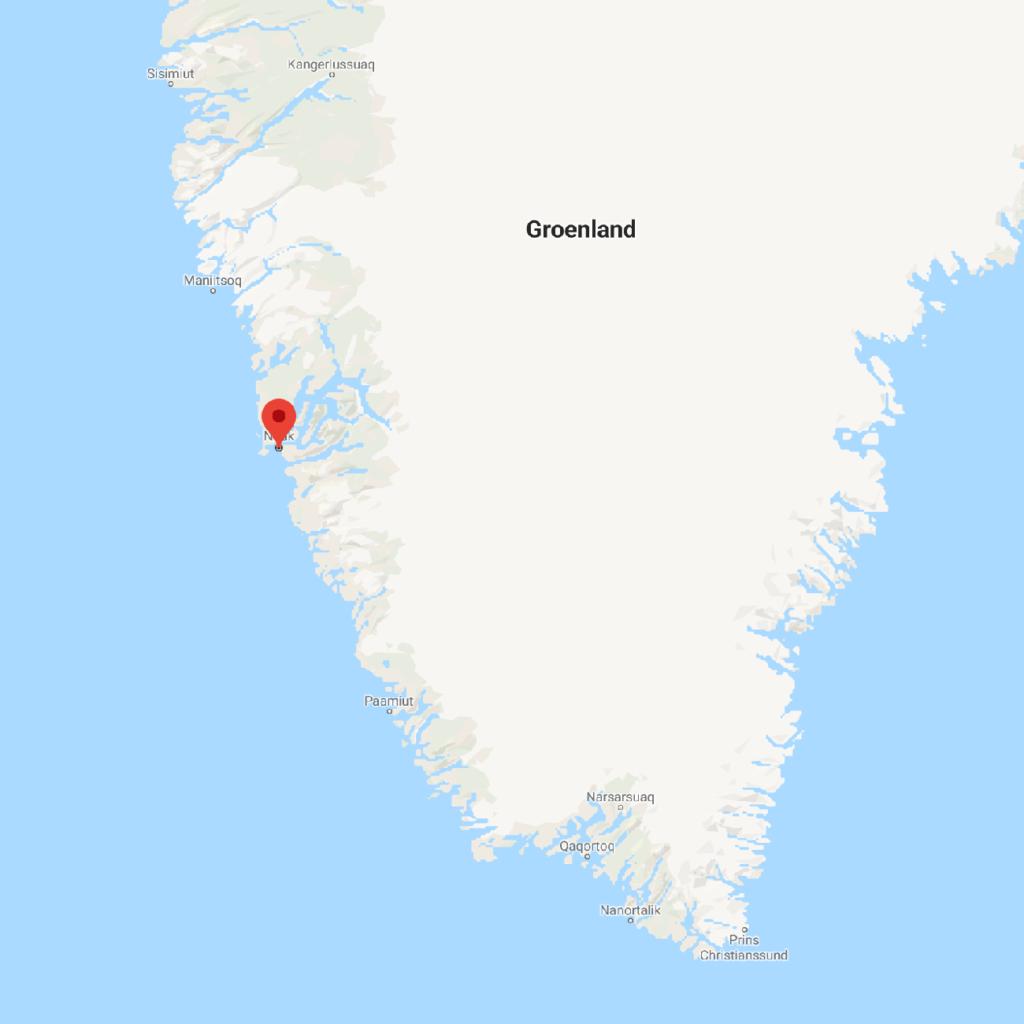 Carte du Groenland Nuuk