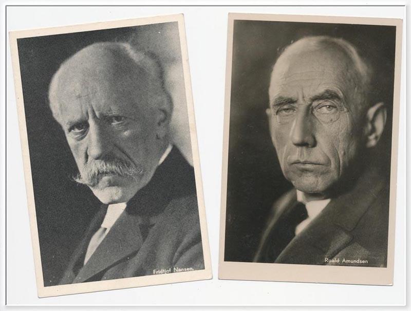Nansen et Roald Amundsen