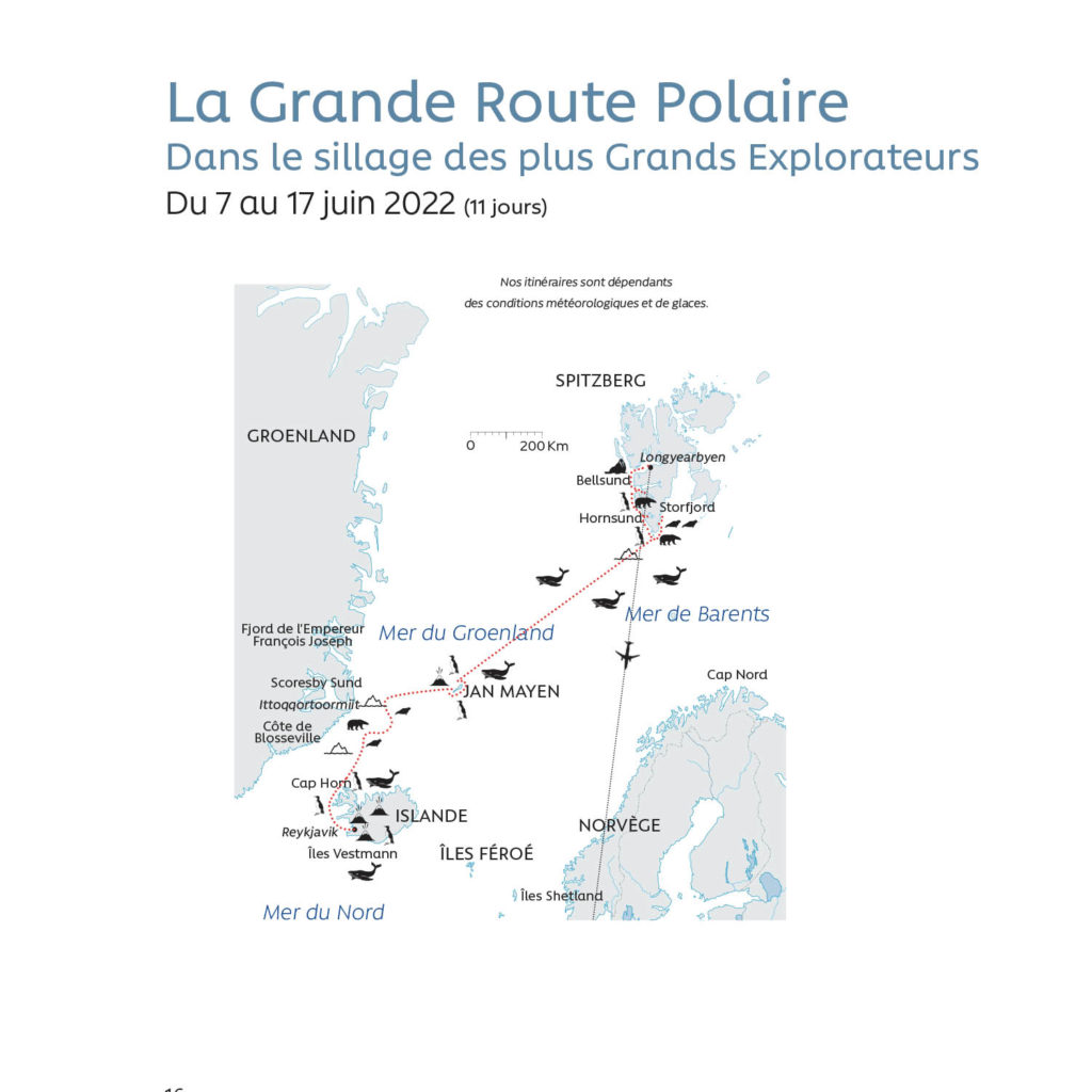 La Grande Route Polaire - Carte