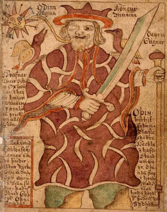 Illustration Odin et ses Corbeaux
