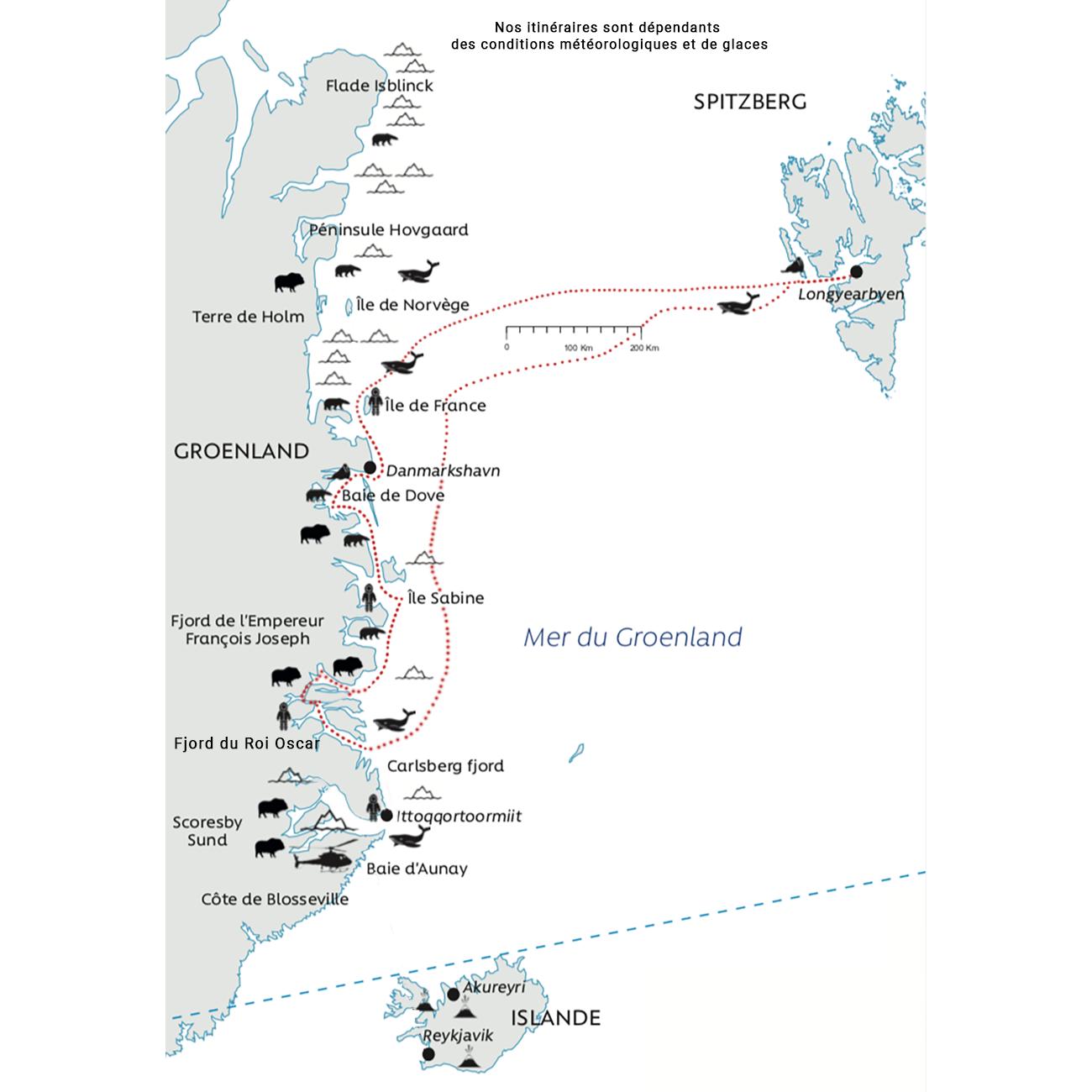 Carte Groenland