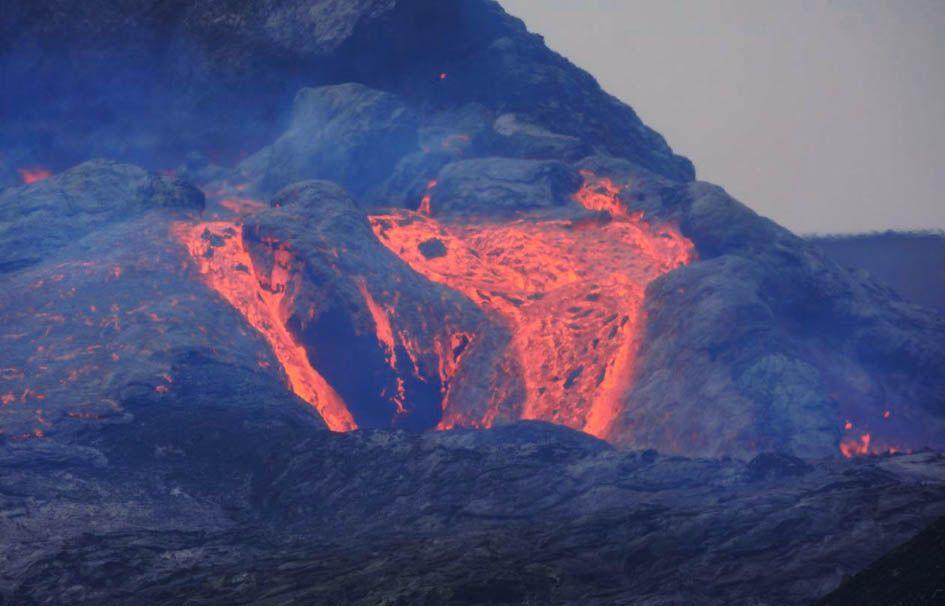 Coulée de lave volcan Islande
