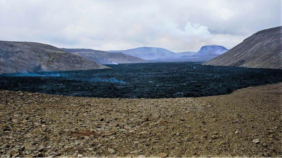 Coulée lave volcan Islande