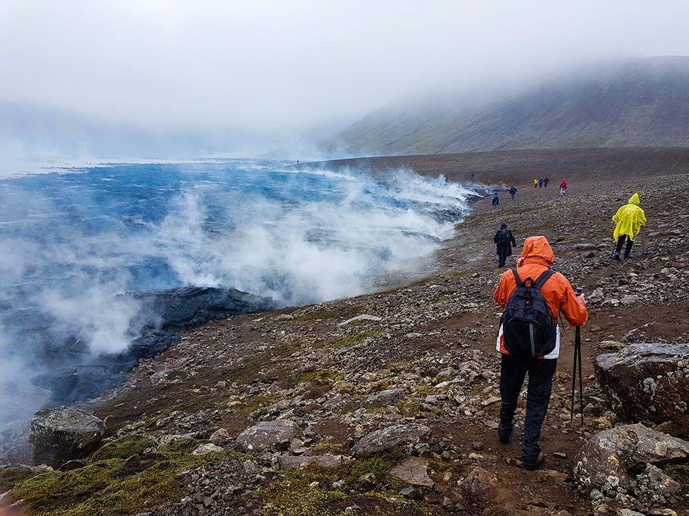 Islande coulée de lave