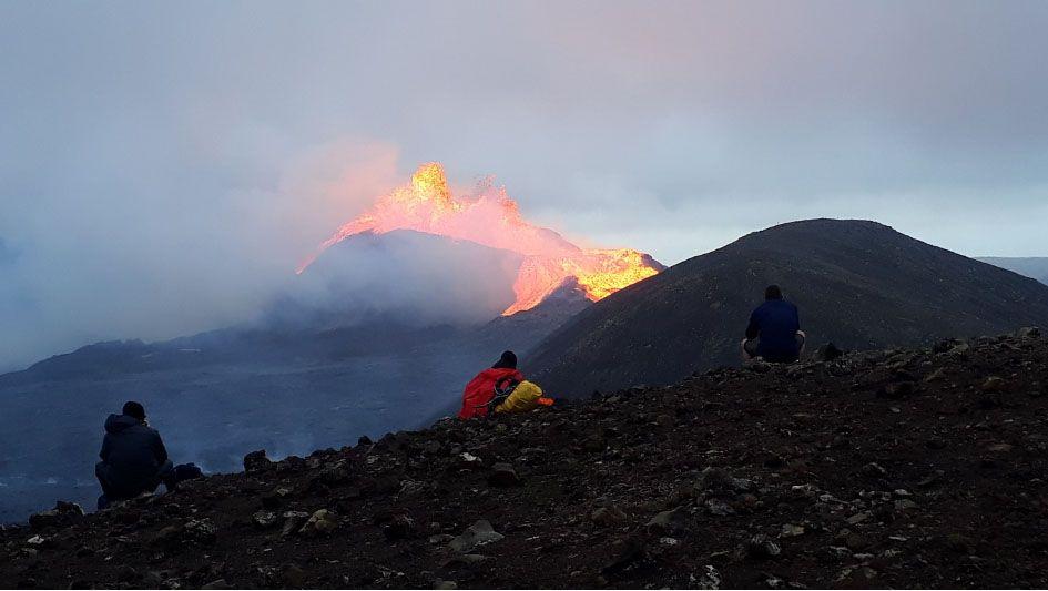 Observation du volcan Islande