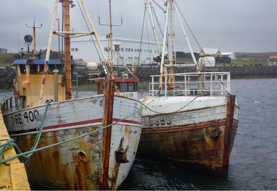 Port de pêche de Gindavik Islande