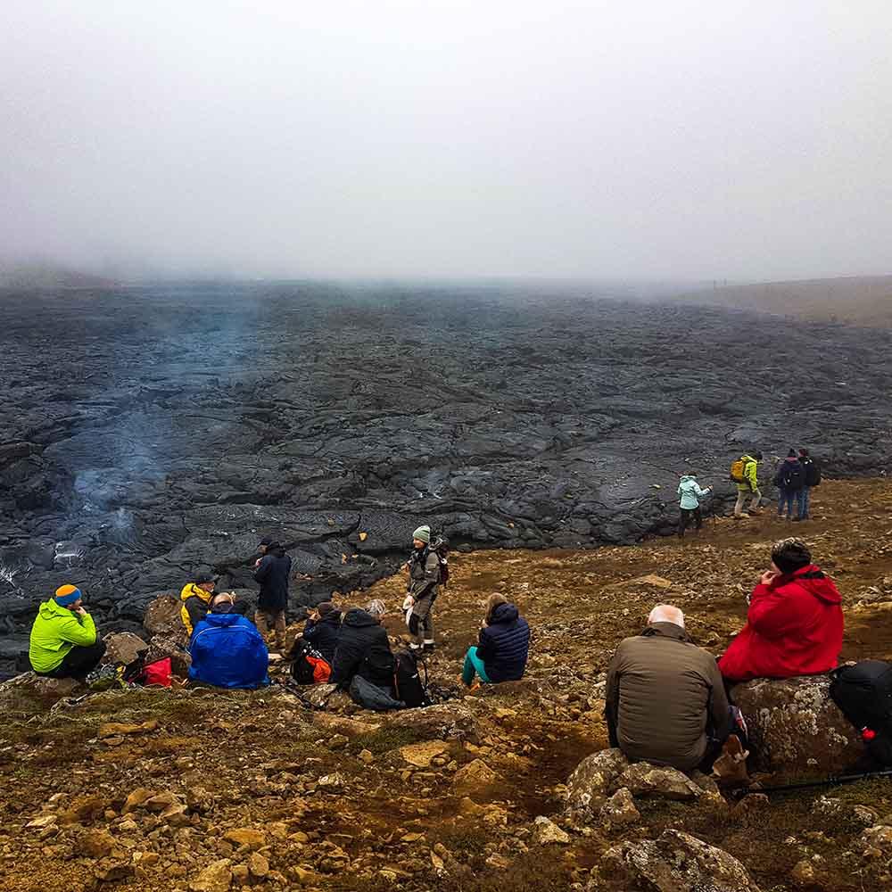 Volcan Islande coulée lave