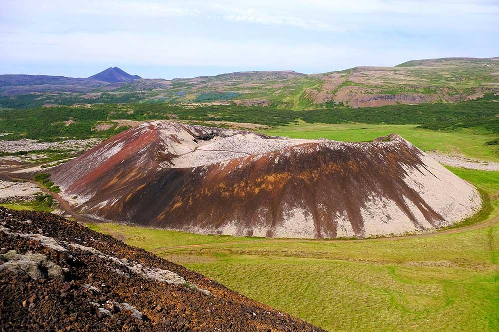 Cratère Grábrók Islande